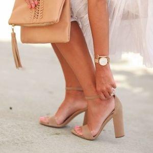 8090c11112a7de Sam Edelman Shoes -  Sam Edelman  Nude Leather Yaro Block Heel Sandals